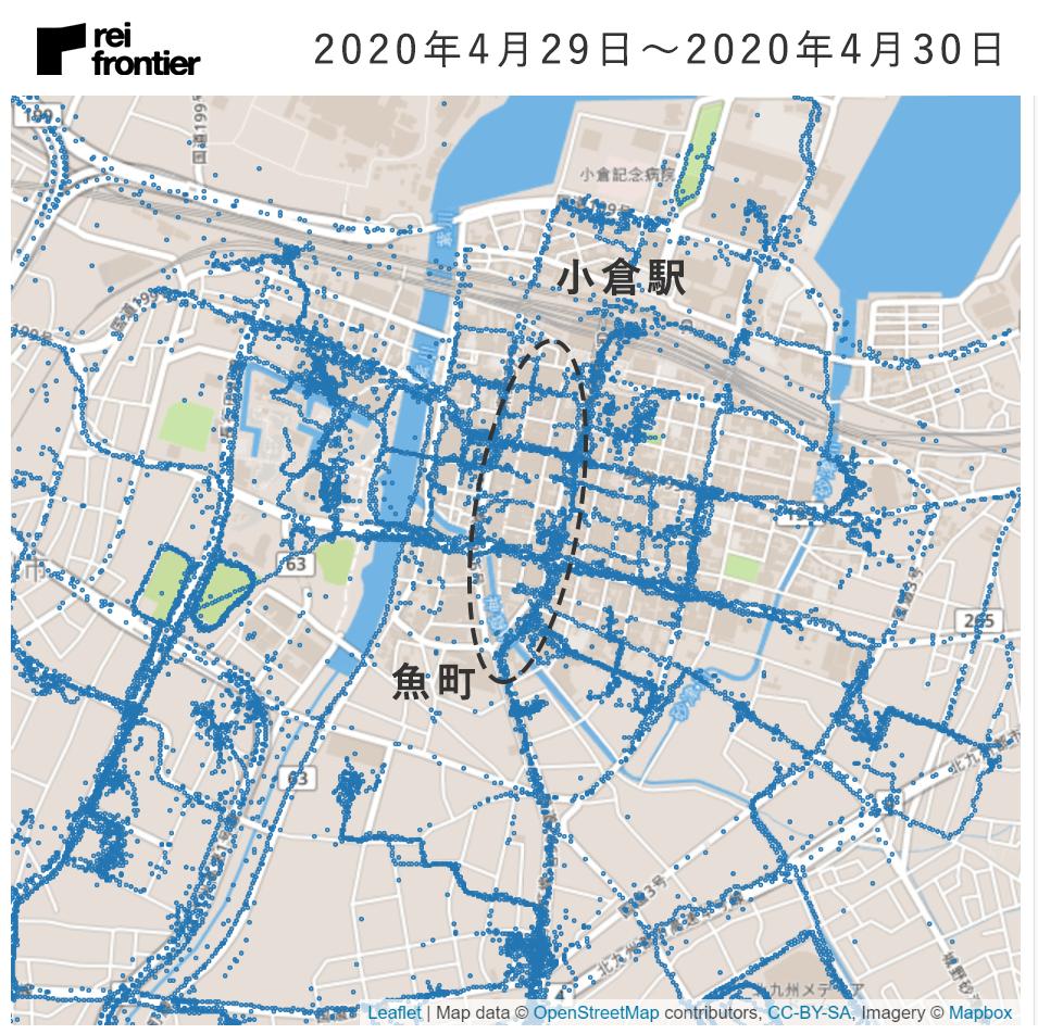 4月29〜30日の人出(出典:レイ・フロンティア株式会社)